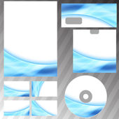 Blue glowing energy wave mock-up — Stock Vector