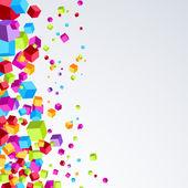 Bright plastic cube background — Stock Vector