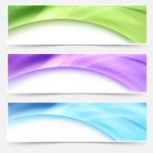 Modern web bright glowing header — Stock Vector