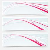 Rapid lines web banners set — Stock Vector
