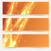 Bright abstract header set — Stock Vector