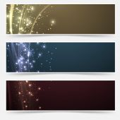Shimmering headers collection — Stock Vector
