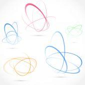 Яркие вихревой элемент орбиты атома — Cтоковый вектор