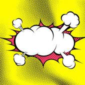 漫画书爆炸云模板 — 图库矢量图片