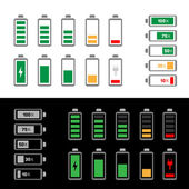 Simple battery icon set — Stock Vector