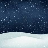 Snowfall night background — Stock Vector