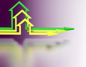 Colorful house arrows. — Stock Photo