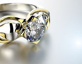 Ring with Diamond. — Stock Photo