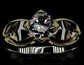 Elmas nişan yüzüğü. — Stok fotoğraf