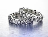 Luxury ring with diamond. — Foto Stock