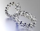 Pierścionek zaręczynowy z diamentów. — Zdjęcie stockowe