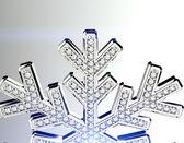 Diamond snowflake. — Stock Photo