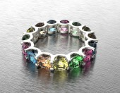 Ring with different color gemstone. — Foto Stock