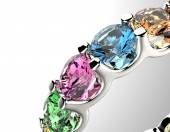 Ring with  color gemstone. — Foto Stock