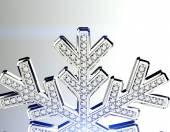 Diamond snowflake — Stock Photo