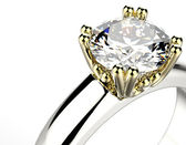 Engagement Ring with Diamond — Stock Photo