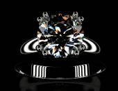 Wedding Ring with Diamond — Stock Photo