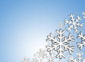 Diamond snowflakes — Stock Photo