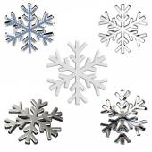 Diamond snowflakes — Stock Photo