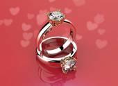Rings with Diamond. — Stock Photo