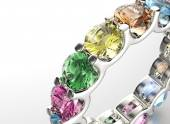 Ring with Diamond. — Stock Photo
