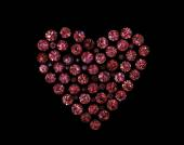 Heart shape gemstones. — Stock Photo