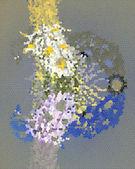 Bouquet di fiori freschi margherite isolato su sfondo giallo — Foto Stock