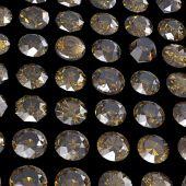 Round cognac diamonds — Stock Photo