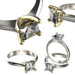 Luxury rings with diamonds — Stock Photo #75122127