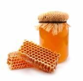 Miele e favo — Foto Stock