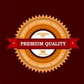 Premium quality label. Vector illustration — Stock Vector