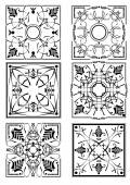 Decorative finishing ceramic tiles. Vector illustration — Stock Vector