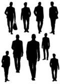 Handsome young men. Businessman. Vector illustration — Stock Vector
