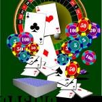 Casino elements. Vector illustration — Stock Vector #56689015