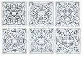 Decorative finishing ceramic tiles — Stock Vector