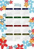 Calendar 2015 with dairy page image. Months. Vector illustration — Διανυσματικό Αρχείο