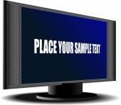 Screen of Plasma or LCD TV set. Vector illustration — Stock Vector