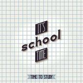 It's school time — Stock Vector