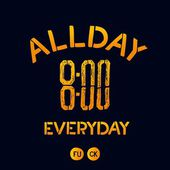 All day everyday — Stockvektor