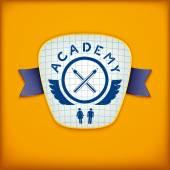 Academy label design — Vector de stock