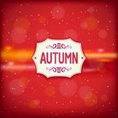 Etiqueta retro otoño — Vector de stock