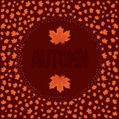 Tarjeta de otoño abstracto — Vector de stock