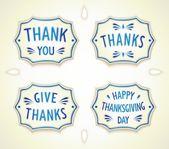 Gratitude ceramics Gzhel badge — Stock Vector
