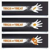 Halloween banerów szablon — Wektor stockowy