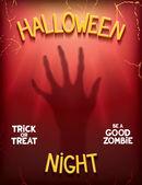 Halloween night poster — Stock Vector