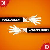 Kreativa affisch för halloween-fest — Stock vektor