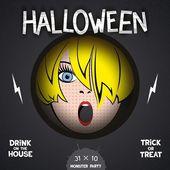 Halloween horror movie poster — Vector de stock
