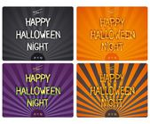 Halloween design lettering — Stock Vector