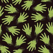 Seamless pattern of zombie hands — Stock Vector
