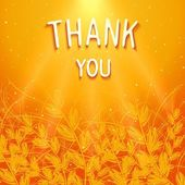 Thank you background design — Stock Vector